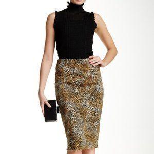 Dex Leopard Print Pencil Skirt